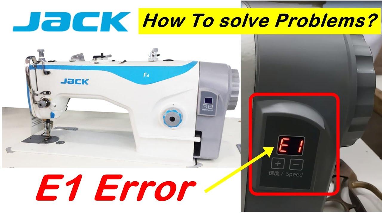 E1 Error , Jack F4 Sewing Machine , High Speed Industrial Lock Stitch Silai Machine Repair