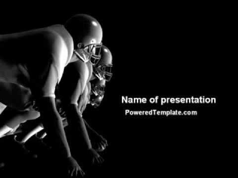American Football Players Powerpoint Template By PoweredtemplateCom