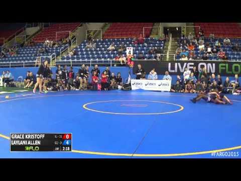 121 1st Place - Laylani Allen (California 2) vs. Grace Kristoff (Illinois)