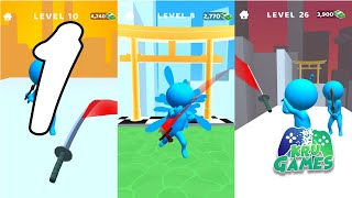 Sword Play! Ninja Slice Runner 3D Gameplay Walkthrough #1 (Android, IOS) screenshot 3