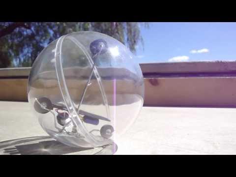 The 'wanna be' Miniball - BEAM robot by Solarbotics