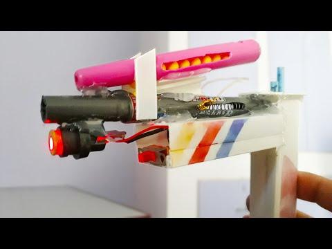 How to make Gun | Nerf Gun at Home | Very Easy | Crazyartline