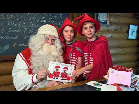 Lettere a Babbo Natale in Lapponia: Santa Claus video per i bambini - l'Ufficio Postale in Finlandia