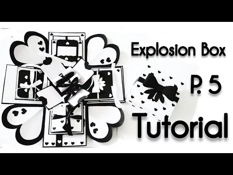 Explosion Box TUTORIAL | Part 5 | Handmade | Black and White | Handmade gift making ideas | S Crafts