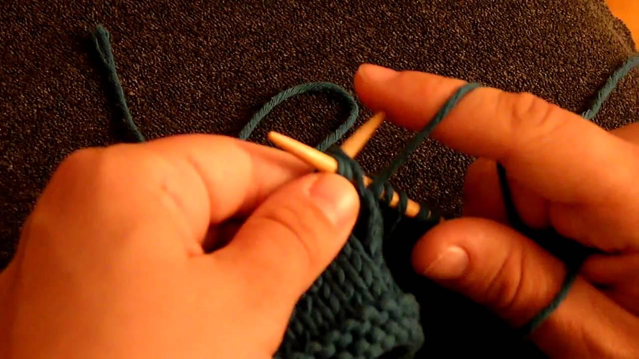 tricoter 3 mailles ensemble au point envers