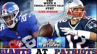 Thursday Night Football Week 6 New York Giants at New England Patriots Game Audio/Score only