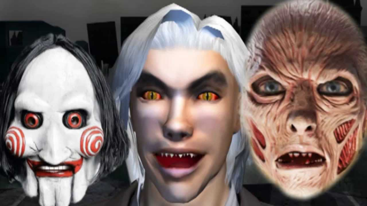 scary face ☺ 3d animated halloween prank ♫ funvideotv - style