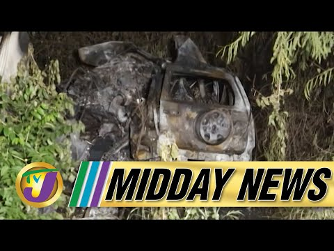 Investigation into Fiery Crash Involving Police in Jamaica   TVJ Midday News - June 25 2021