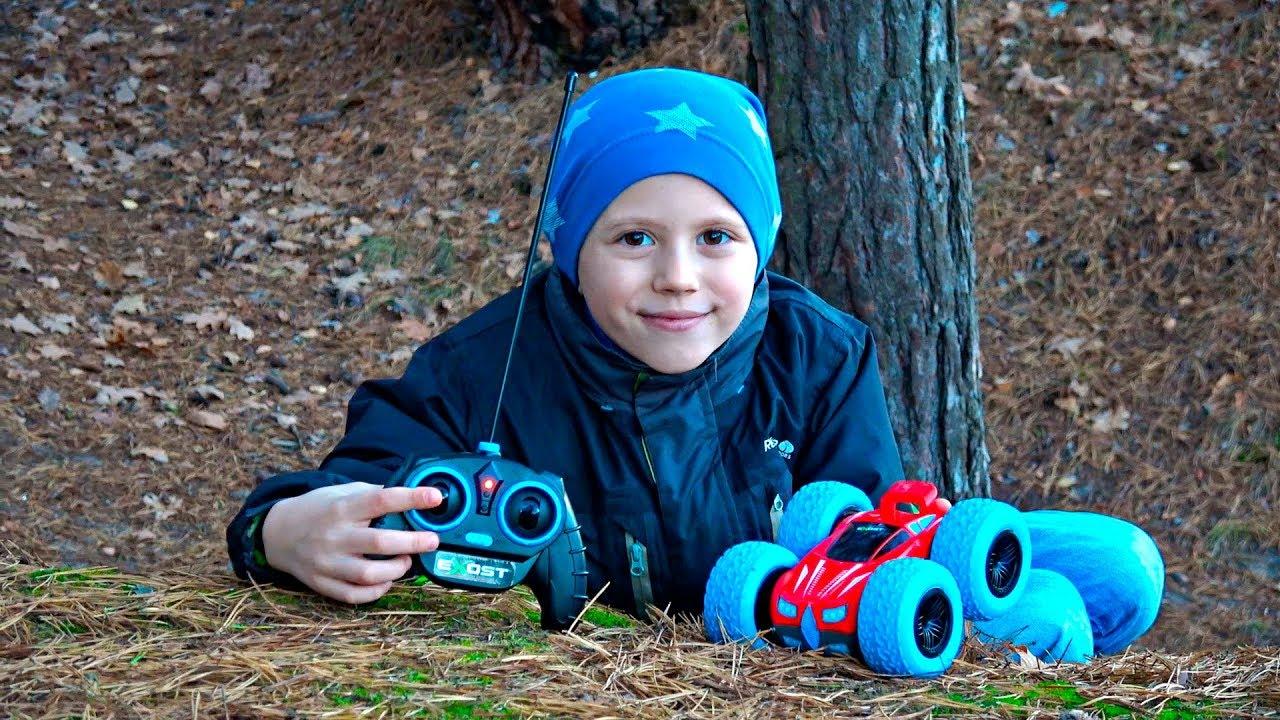 ГОНКИ В ЛЕСУ! Машинка АКРОБАТ 360 CROSS EXOST - Даник и Машинки для детей. Toy Car for Kids