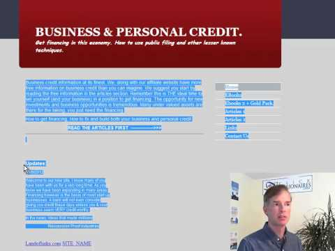 SEO Review of Business Credit Website Video