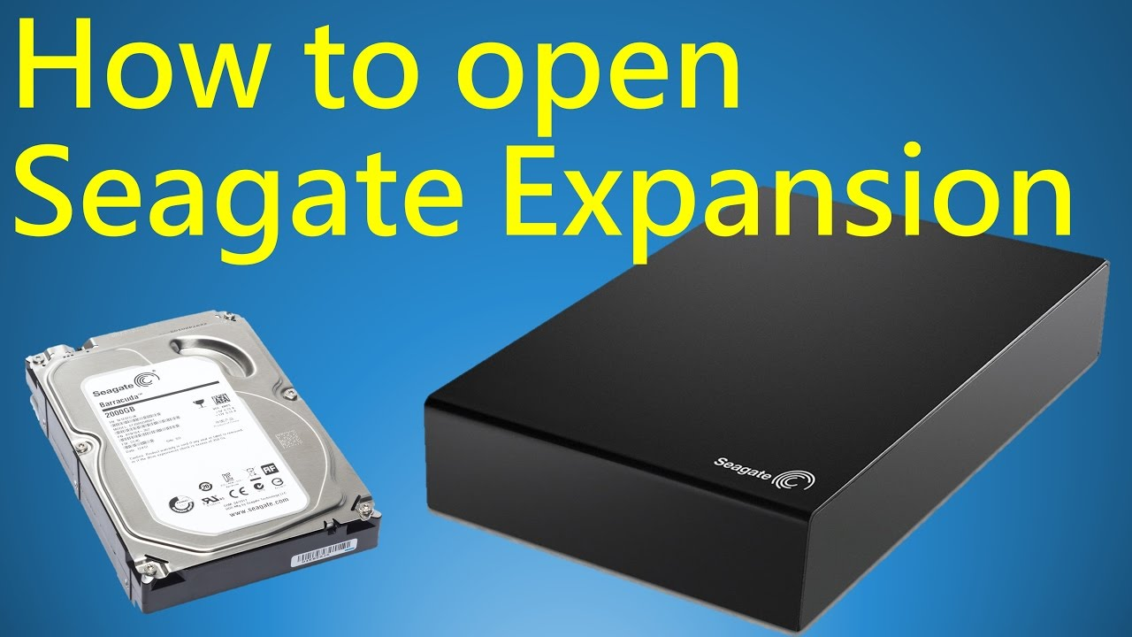 How To Open Seagate Expansion External Hard Drive Youtube