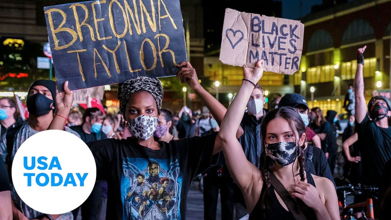 New York protesters 'say her name' after no criminal charges in Breonna Taylor death | USA TODAY