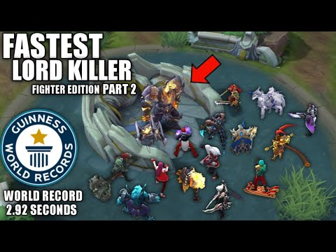 FASTEST FIGHTER 💪TO SOLO KILL LORD PART 2 ( NEW RECORD 2.92 SECONDS 🤔 ) - MOBILE LEGENDS BANG BANG