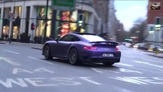 PURPLE Porsche TurboS POWERSLIDES & REVS!