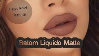 FAÇA VOCÊ MESMO-BATOM LIQUIDO MATTE NUDE