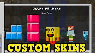 Minecraft Console - CUSTOM SKINS GAMEPLAY (& Why It Won