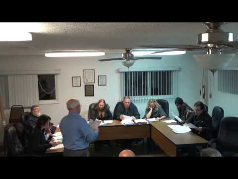 01/16/17 Village of Holiday Hills Board Meeting pt.1