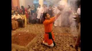 dhunuchi naach traditional durga puja dance by dibyajyoti guha at dcw kolkata 2013