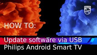How to update software over USB - Philips Android Smart TV [2017] Video