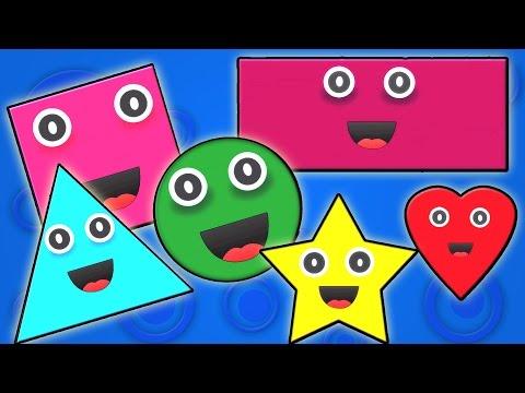 форма песни   узнать формы   стишки для детей   Shapes Song   Preschool Songs