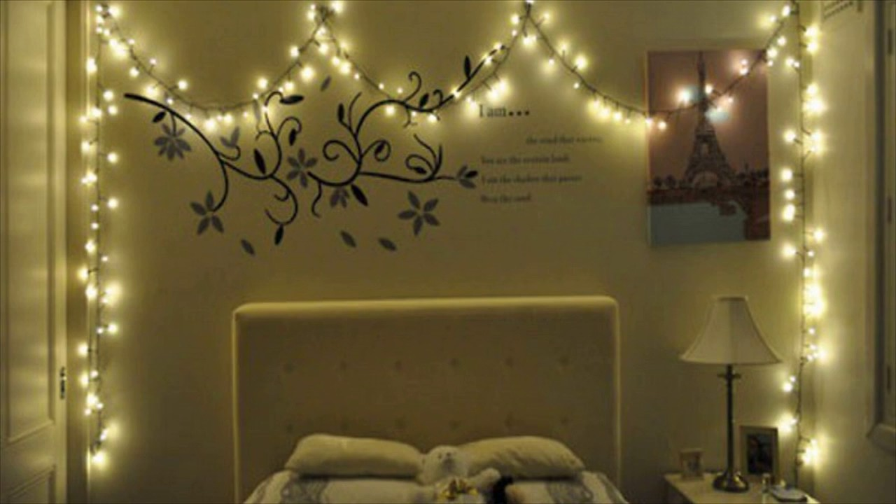 Christmas lights in bed room youtube for How to light up a room