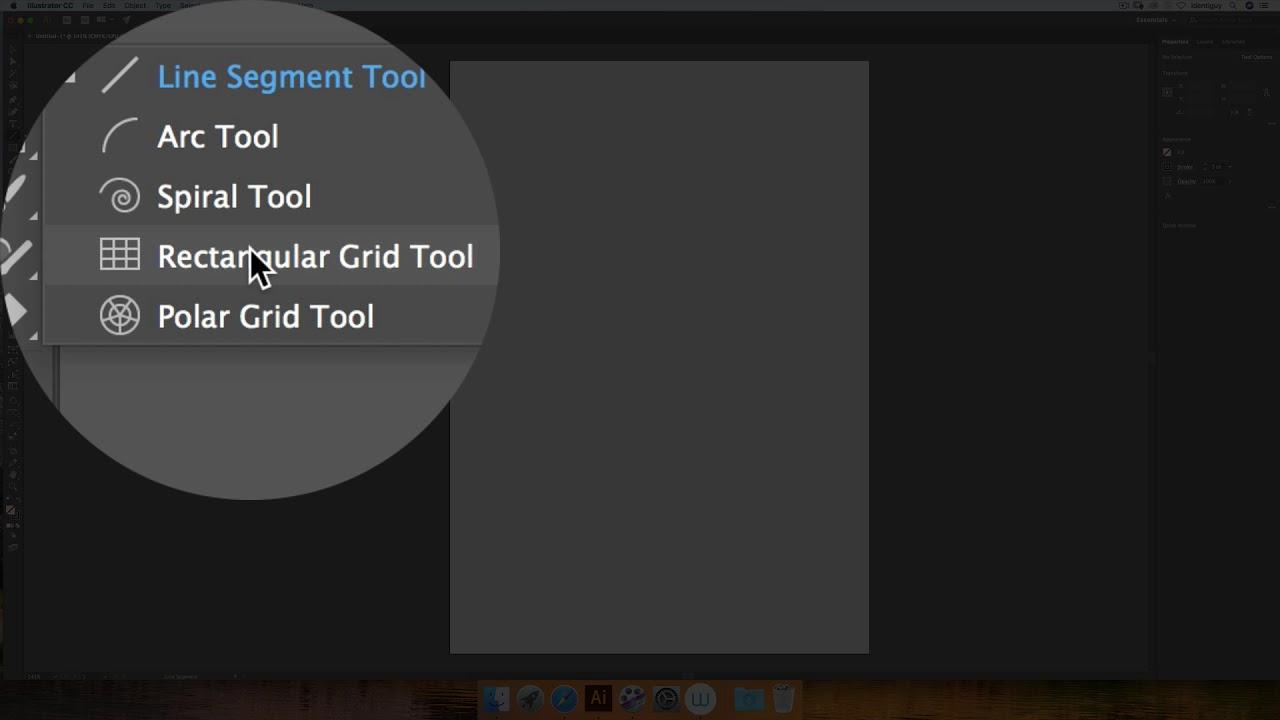 Adobe Illustrator – Tutorial 16 (Rectangler Grid Tool)