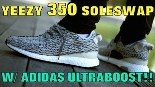 YEEZY 35O CLEAT SOLESWAP W/ ULTRABOOST! (MUST WATCH!!)