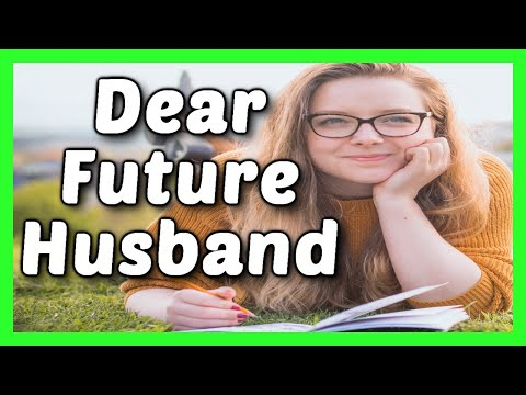 A Messages To My Future Husband | Love Message For Husband | A Letter For My Future Husband