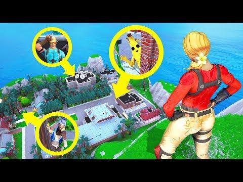 Fortnite SNEAKIEST HIDING Spots! (Fortnite Creative Mode) thumbnail