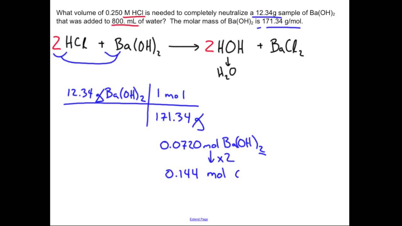 neutralization reaction chemistry sample problem  neutralization reaction chemistry sample problem