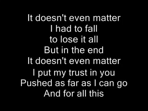 Linkin Park- In the End (Lyrics) + DownLink