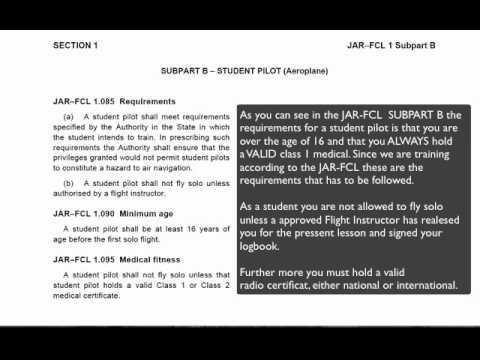 JAR-FCL student pilot requriments