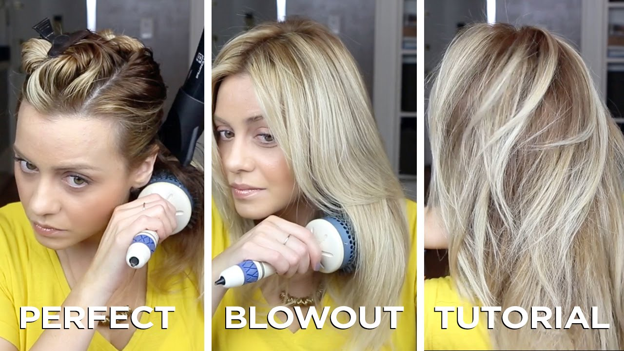 Diy Salon Quality Blowout On Long Hair In Just 15 Minutes How To And Step By Step