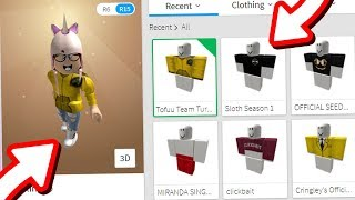 BUYING FAMOUS ROBLOX YOUTUBER'S MERCH! | Tofuu, Poke, and More!