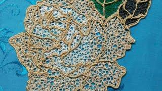 Мелкая сеточка с узелками, для Ирландского кружева.