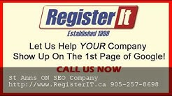 Best Toronto SEO Company St Anns ON - 905-257-8698