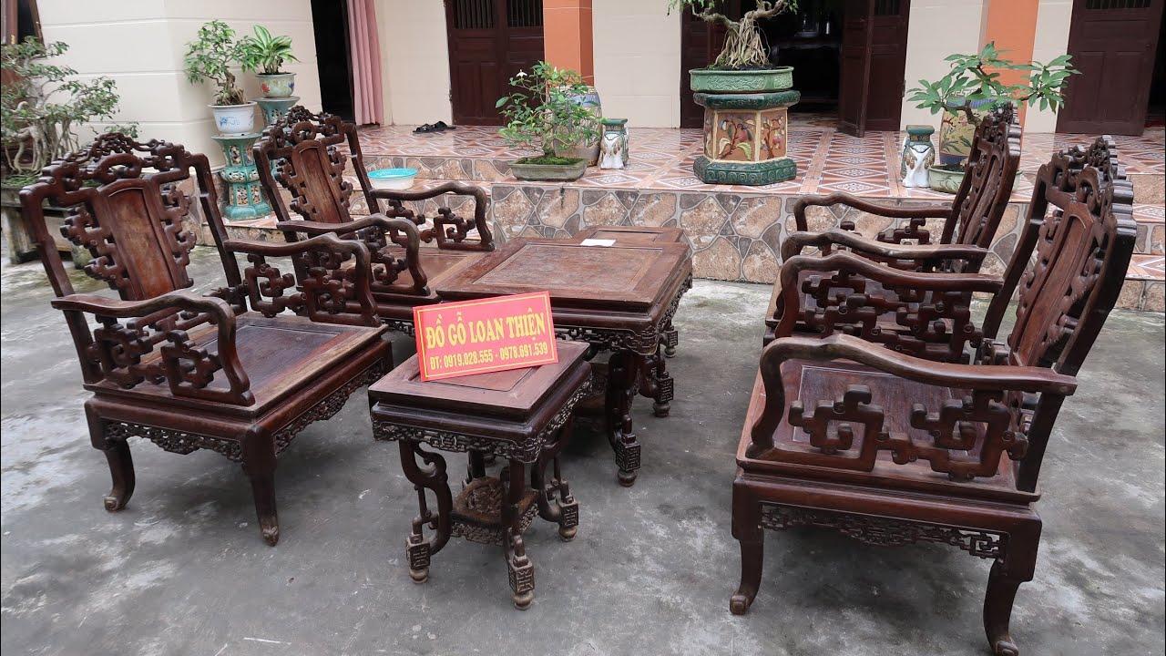 Bàn ghế gỗ trắc cổ lối Âu Á – Đồ Gỗ Loan Thiện