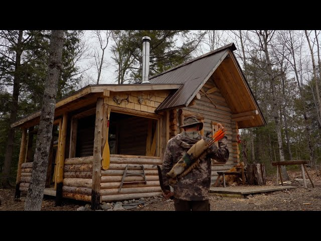 Wild Turkey - Off Grid Survival Food | Living Off the Land at the Log Cabin