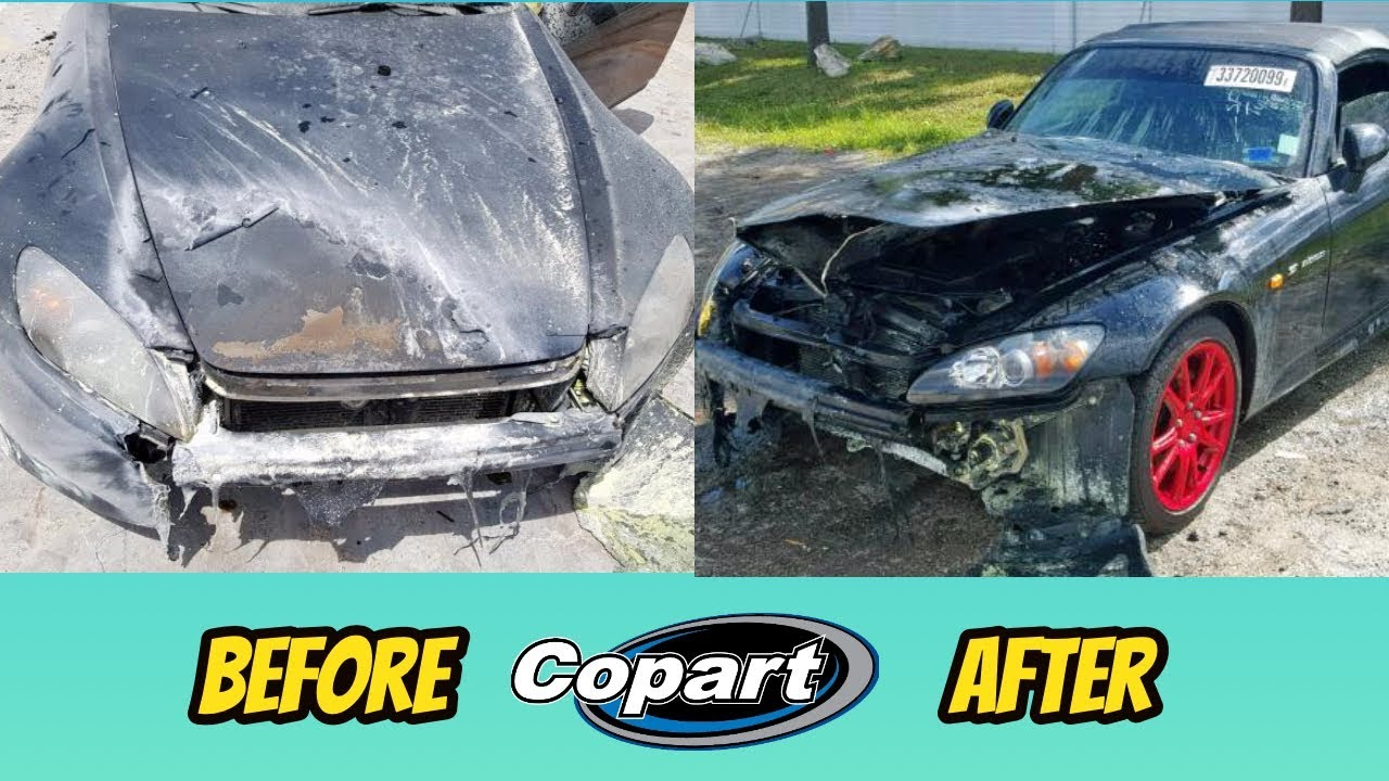 COPART forklift damages BURNED Honda s2000, but I still bought it! Salvage s2000 rebuild part 1