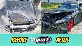COPART forklift damages BURNED Honda s2000, but I still bought it! Salvage s2000 rebuild part 1