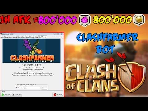 800K ELIXIR UND GOLD IN COC AFK VERDIENEN | Clashfarmer-Bot ausführliches Tutorial