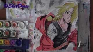 Speed drawing Edward Elric -FullMetal Alchemist-