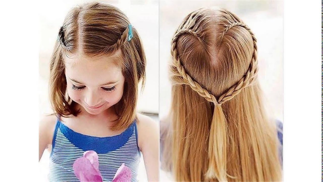 cute hairstyles for school for short hair - YouTube