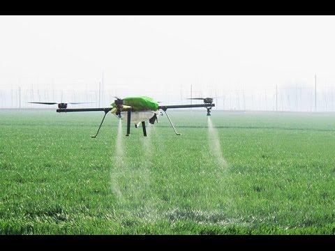 GeoDron.Ru, летающий опрыскиватель коптер, беспилотники в сельском хозяйстве, БПЛА, АГРОДРОН
