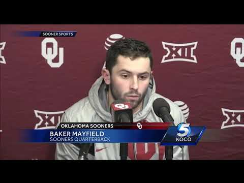 Baker Mayfield apologizes for antics during Kansas game