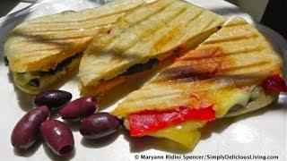 Simply The Best Grilled Veggie & Cheese Panini