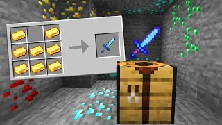 Minecraft UHC but crafting recipes are random..