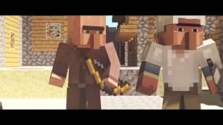Война жителей и эндерменов( Minecraft)