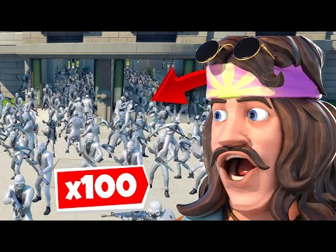 I Got 100 HENCHMEN To Spawn At AGENCY In Fortnite... 😳