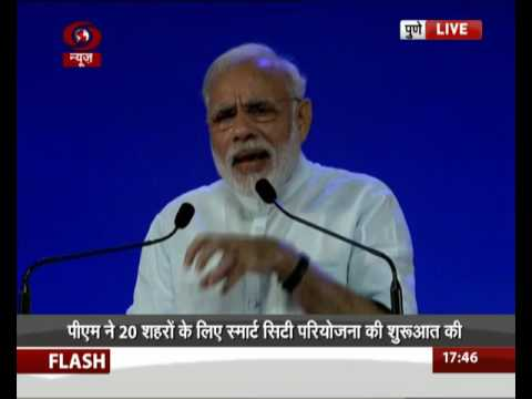 PM Modi launches Smart City Project in Pune